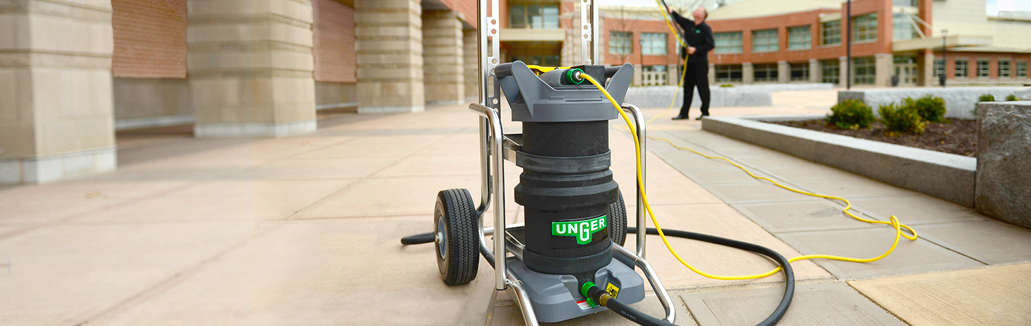 Unger Hydropower - Clean windows faster and safer with no ladders and no chemicals