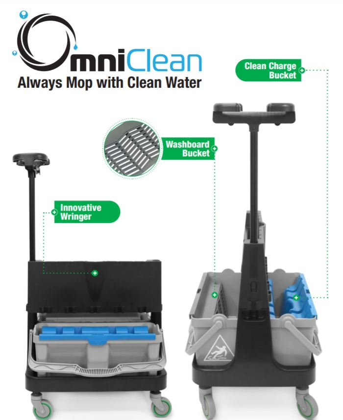 Omni Clean Dual Bucket Mop System - Unger USA
