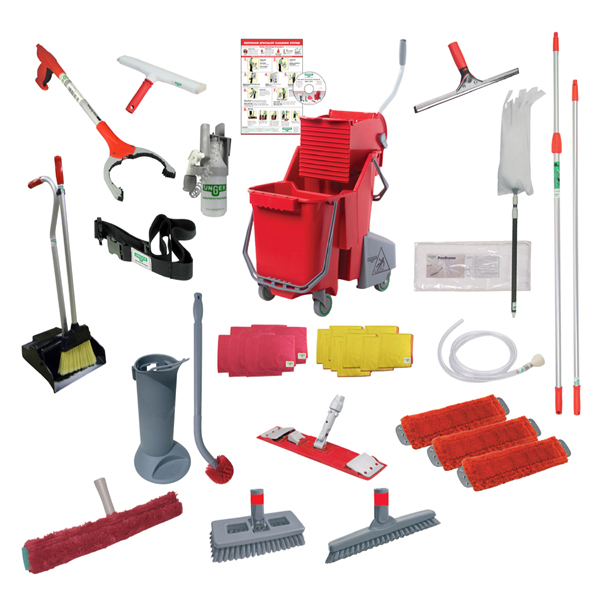 Hillyard C3 Restroom Cleaning : Restroom cleaning kits ergonomic tools unger