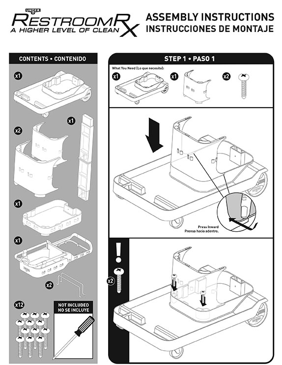 RestroomRx Cart Assembly Instructions