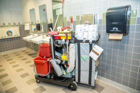 Building Services Restroom RX Cleaning Cart