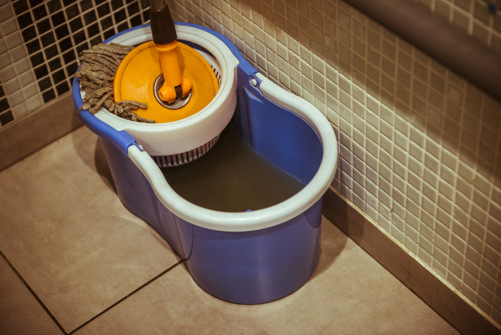 dirty floor care equipment