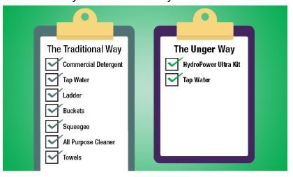 Pure Water Window Cleaning v. Traditional Window Cleaning -Comparison Chart