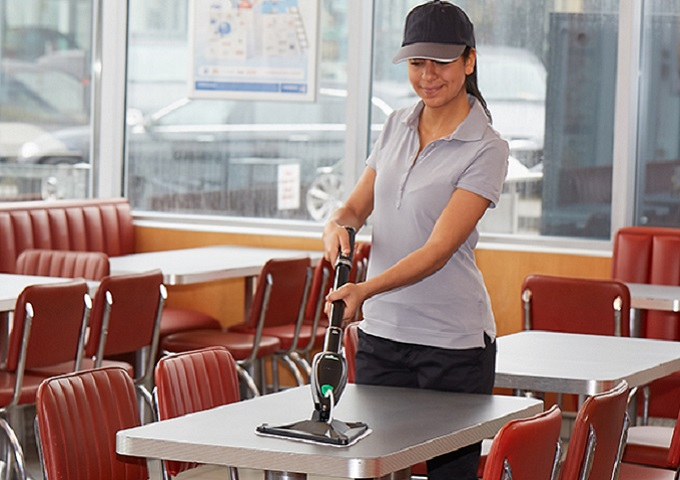 restaurant cleaning supplies front of house