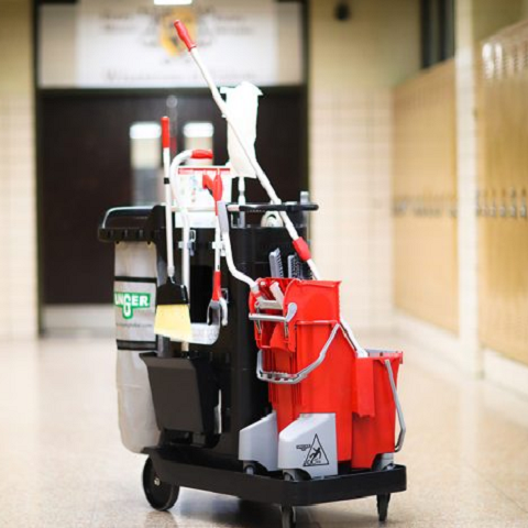 portable cleaning cart